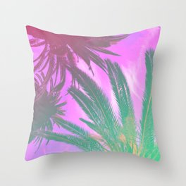 Groovy Palm Trees Throw Pillow