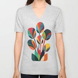Ikebana - Geometric flower Unisex V-Neck