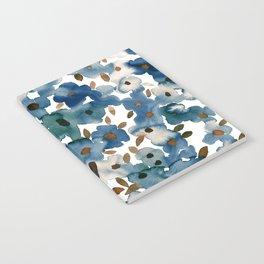 Georgia Floral Blue Notebook
