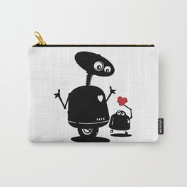 Robot Heart to Heart Carry-All Pouch