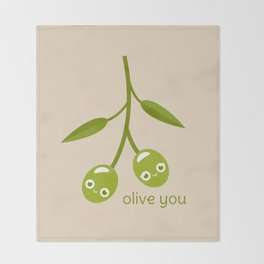 Olive You Throw Blanket