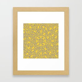 Yellow Flower explosion Framed Art Print