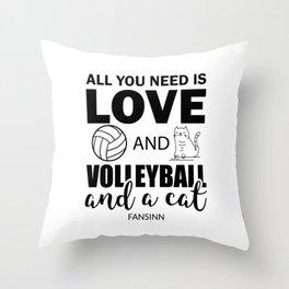Volleyball Sports Team Team Cat Gift Throw Pillow