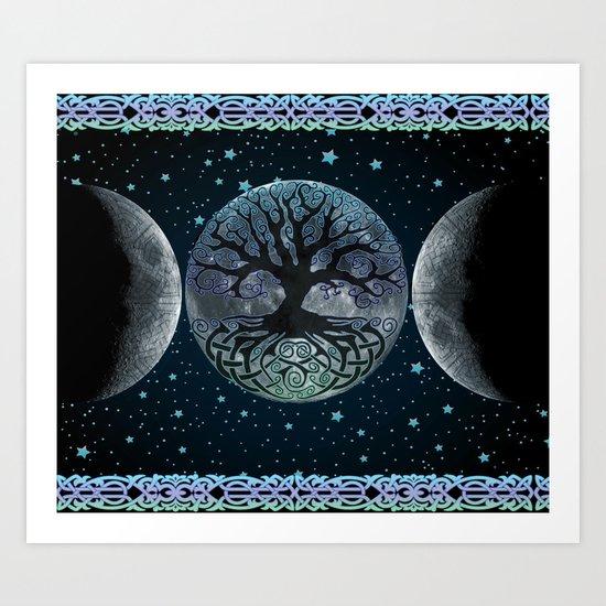 Esoteric Tripple Moon Art Print