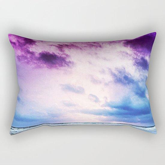 Cloudy shores Rectangular Pillow