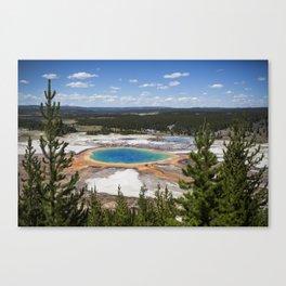 grand prismatic spring Canvas Print