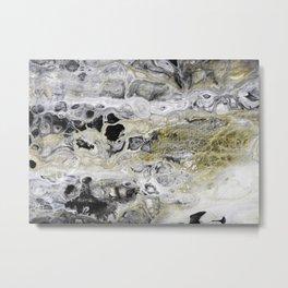 Fluid Lace Metal Print
