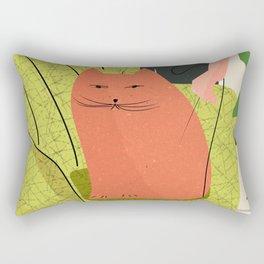 Cats And Books Rectangular Pillow