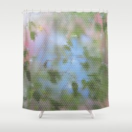 Wet Leafy Color Pattern Shower Curtain
