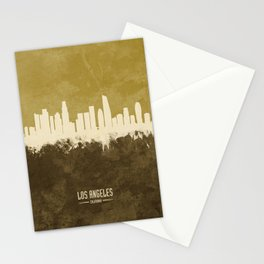 Los Angeles California Skyline Stationery Cards
