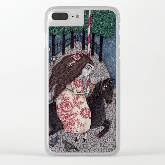 My Summer Days Clear iPhone Case