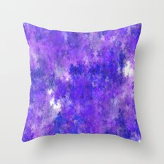 The blue FOG (A7 B0219) Throw Pillow