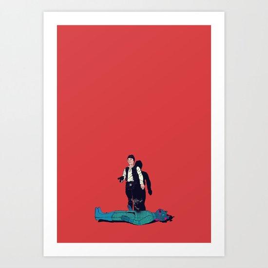 Over my dead body Art Print