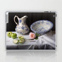 Delft blue china and apples still life Laptop & iPad Skin