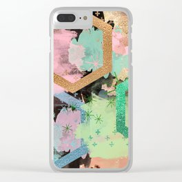 fun with collage and colors Clear iPhone Case