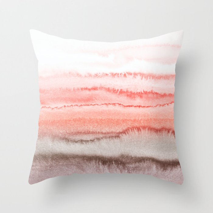 WITHIN THE TIDES CORAL DAWN Throw Pillow by monikastrigel Society6