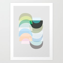 Pastel Geometry 3 Art Print