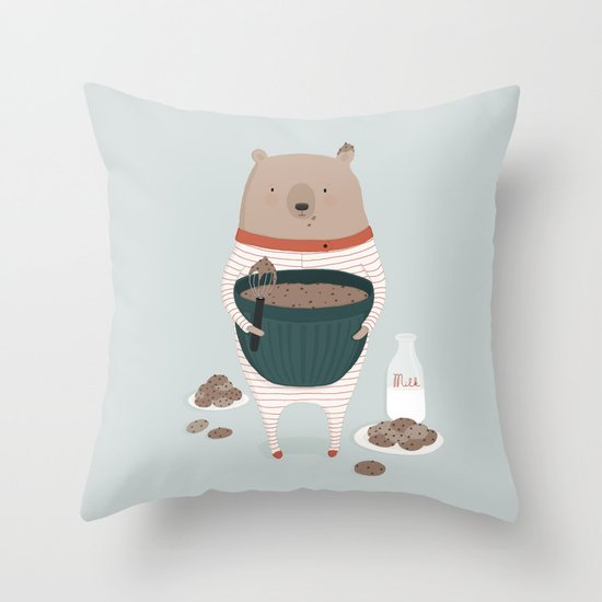 Maxwell's Midnight Snack Throw Pillow