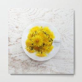 Dandelion Tea Metal Print
