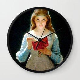 "Pierre Auguste Cot ""Ophelia"" Wall Clock"
