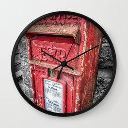 British Post Box Wall Clock