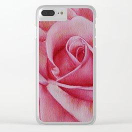 Rose Petals Clear iPhone Case