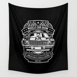 muscle car show american classic legend Wall Tapestry
