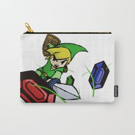 Cutting Grass is NOT a waste of time: Legend of Zelda Wind Waker Carry-All Pouch