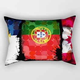 Portugal, Azores, Canadian flags Rectangular Pillow