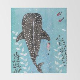 Whale shark! Throw Blanket