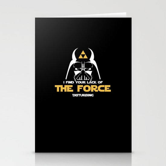You lack the (Tri) Force!  Stationery Cards
