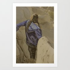 Hiking in the Desert Art Print