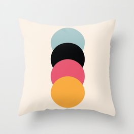 4 Classic Retro Dots Brigantia Throw Pillow