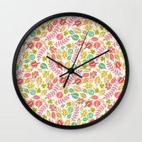 jungle Wall Clocks featuring Jungle by Kristin Nohe Juchs