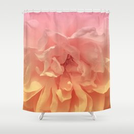 Blended Rose Macro Pink Yellow Shower Curtain