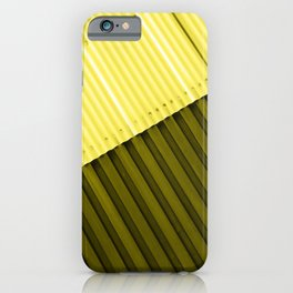 Aluminum Wall - Yellow & Green iPhone Case