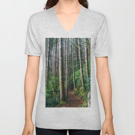 Trees: III // Oregon Unisex V-Neck