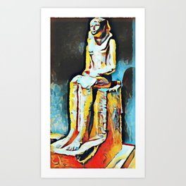 Hatshepsut in the Metropolitan Museum of Art in NYC Art Print