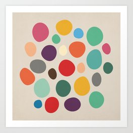 Colorful Abstract Pebbles Art Print