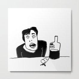 Vodka (drinking alone) Metal Print