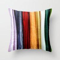 striped Throw Pillows featuring Striped by Anne Seltmann