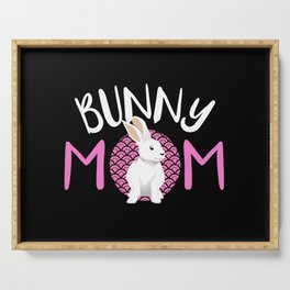 Bunny Rabbit Wabbit Bunnies Mom Lady Pet Lop Gift Serving Tray