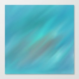 Pure Turquoise Abstract Canvas Print