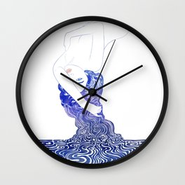 Water Nymph XXXVII Wall Clock