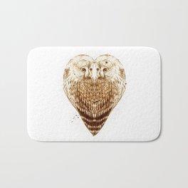 Owl Heart Bath Mat