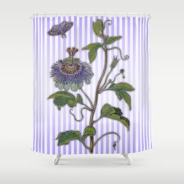 Merian: Passiflora Shower Curtain