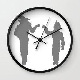 DBZ Goku Vegeta Shadows Wall Clock