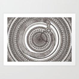 Ouroboros Mandala Art Print