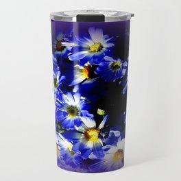 Blue Daises  Travel Mug