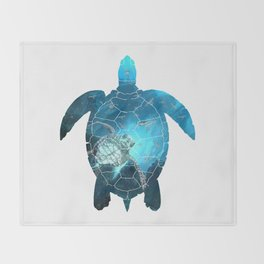 Sea Turtle - Under The Sea Throw Blanket